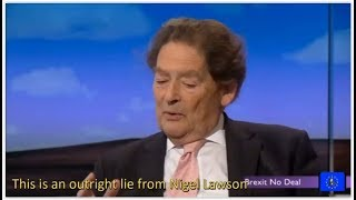Brexit Fallout: Nigel Lawson's lies and hypocrisy exposed on Daily Politics