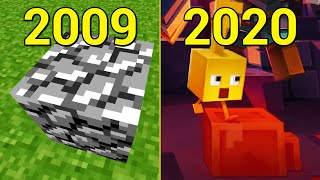 Evolution of Blocks in Minecraft 2009-2020