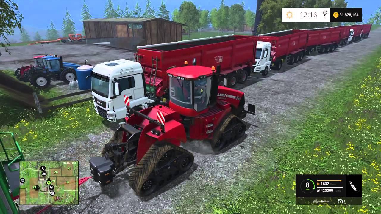 Farming Simulator 15 PS4, Insane Wagon Train, 420k In A Single Load!