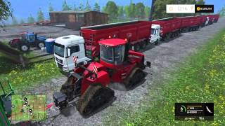 Farming Simulator 15 PS4, Insane Wagon Train, 420k In A Single Load!
