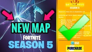 * NOVO * SEASON 5 OFICIAL BATTLE PASS TEMA & NOVO MAPA VAZAMENTOS! (Passe de batalha da temporada 5 do Fortnite)
