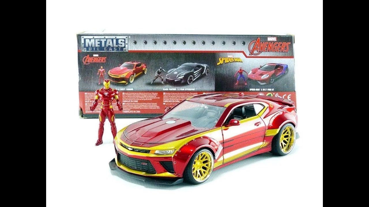 Jada Toys Marvel Iron Man /& 2016 Chevy Camaro Die-cast Car 1:24 Scale Vehicle /& 2.75 Collectible Metal Figurine