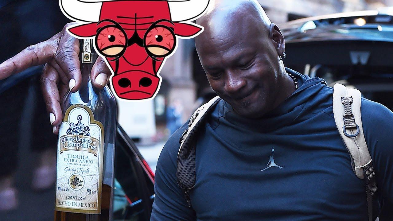 Grave Catástrofe Deliberar  Michael Jordan STUMBLES w/ BLOODSHOT EYES & Half Empty Bottle of ...