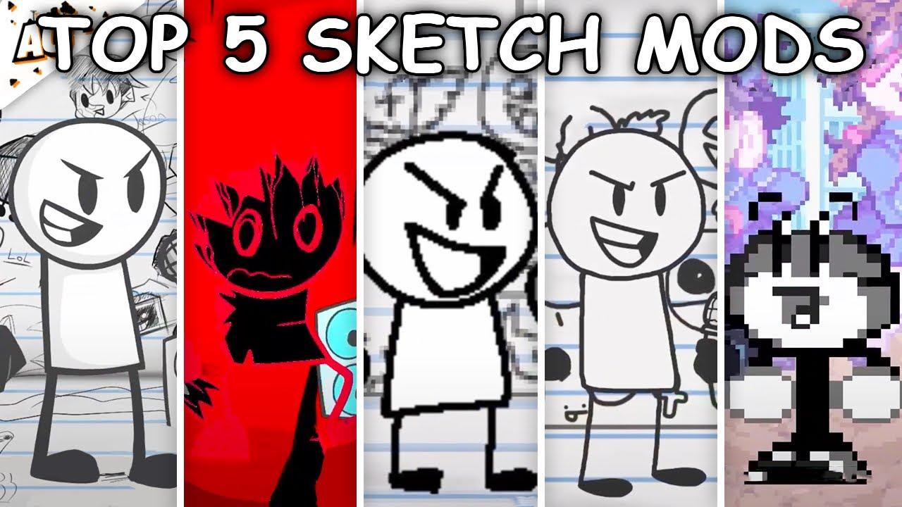 Top 5 Sketch Mods - Friday Night Funkin'