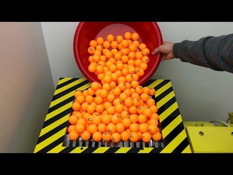 EXPERIMENT Shredding 1000 Ping Pong Balls