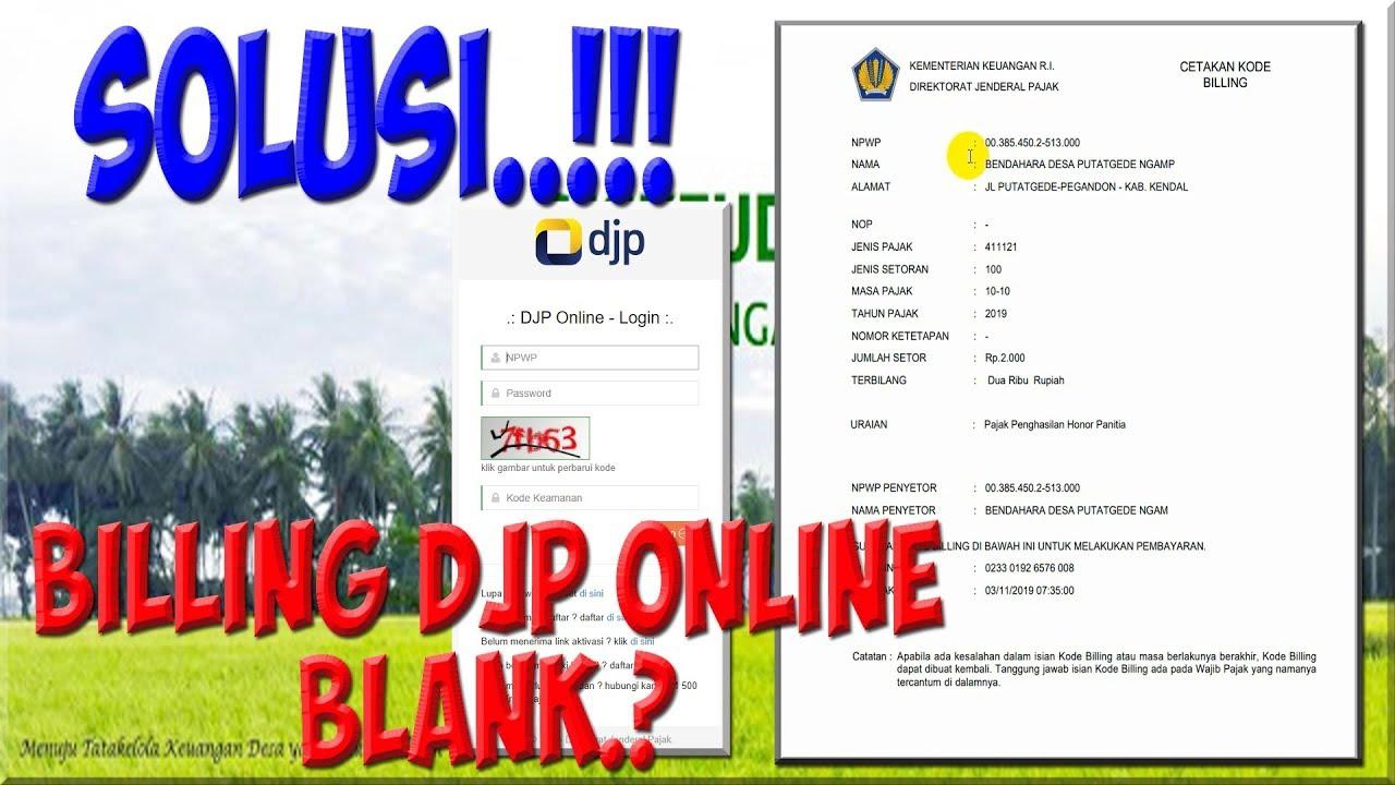 Cara Mudah Cetak e Billing DJP Online 2019 Blank - Ini ...