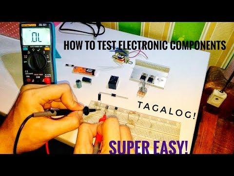 Paano mag check  ng mga Electronics Components   Testing Electronic Components With DMM  TAGALOG