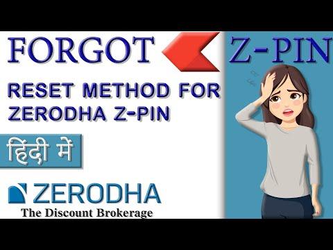 How to retrieve zerodha Z-Pin or Reset Z pin    Hindi   