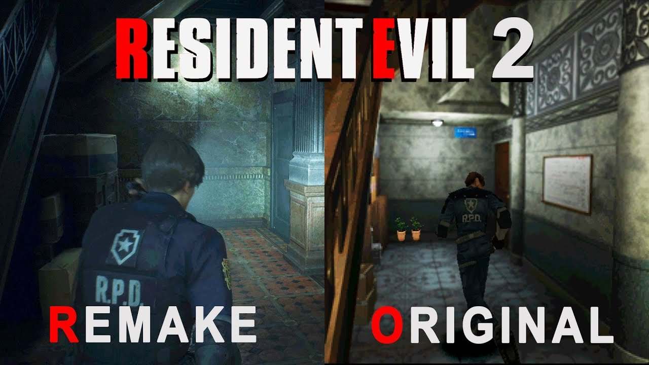 Resident Evil 2 Remake Vs Original Comparison Youtube
