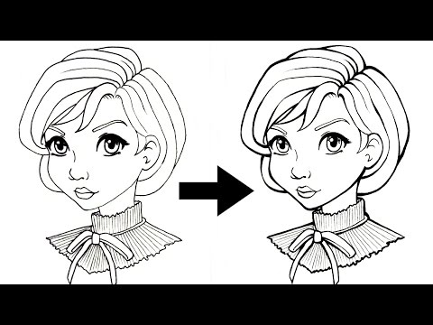 INKING TUTORIAL - Tips & Tricks to Add Line Weight