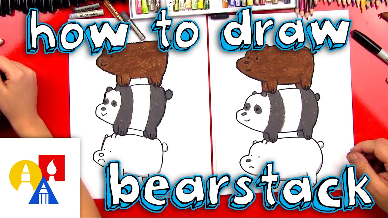Art For Kids How To Draw We Bare Bears Bearstack Youtube