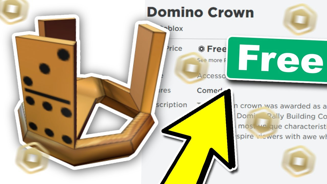 How To Get A Domino Crown For Free Roblox Promo Code Youtube