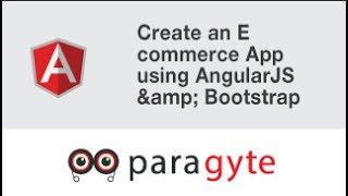شبيبة الزاوي التعليمي - خلق التجارة الإلكترونية التطبيق باستخدام AngularJS & التمهيد