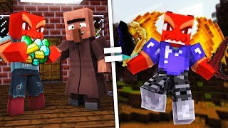 Crazy Minecraft - SCAMMING A VILLAGER FOR OVER POWERED GEAR!