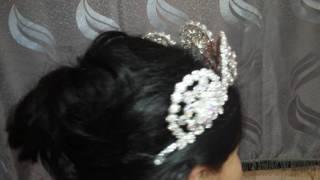 Перламутровая свадебная корона, в моем исполнении