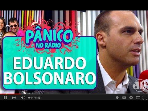 """Eduardo Bolsonaro: """"o problema de Jean Willys é que ele não aceita debater""""   Pânico"""