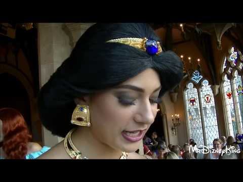 Stunning Jasmine in Meet & Greet | Cinderella's Royal Table Dining Experience