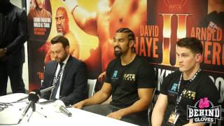 HAYE ON BRIGGS: 'IT'S A FIGHT PEOPLE WANT TO SEE' - FULL POST FIGHT PRESS CONFERENCE