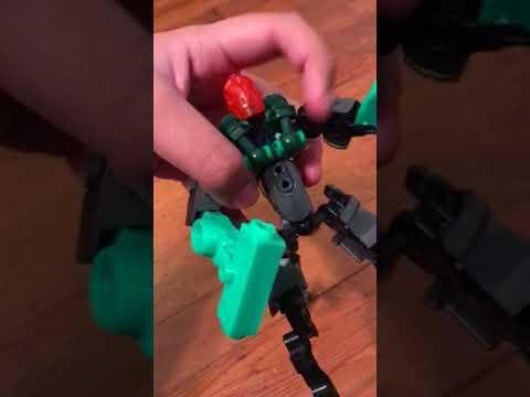 3d printed lego moc voodoo head bionicle youtube