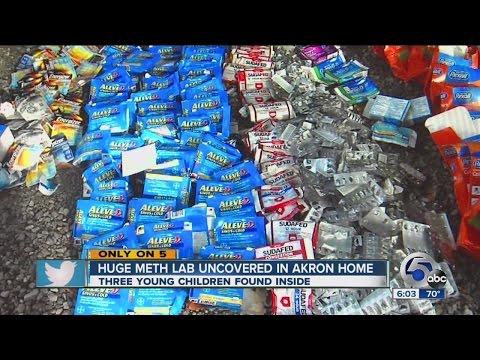 Police find huge meth lab, 3 kids in Akron home
