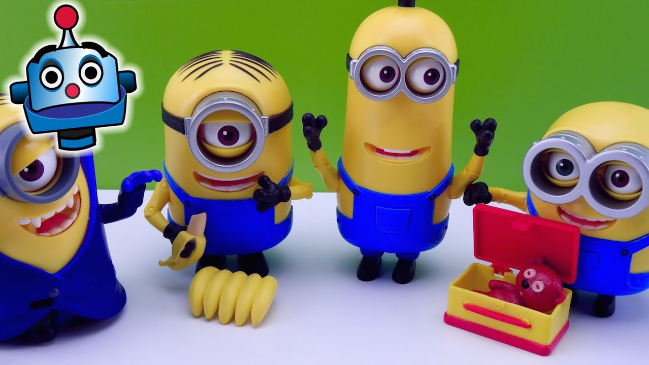 Minions 4 figuras Deluxe Poseable Deluxe Action Figures