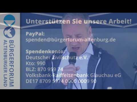 Andreas Sickmüller begrüßt Bodo Ramelow in Altenburg