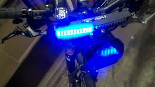 Police Bike Patrol LED emergency lights