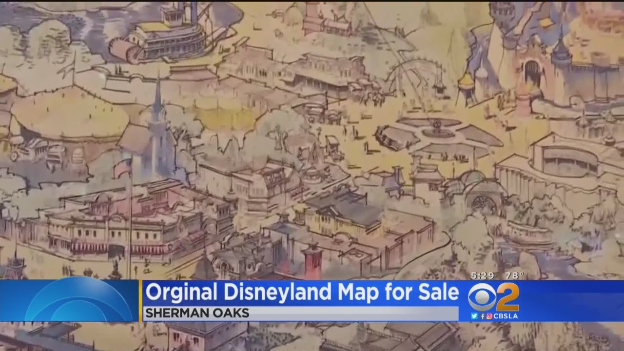 Original Map For Proposed Disneyland Goes On Auction Block YouTube - Los angeles map disneyland