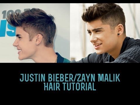 ZAYN MALIK/JUSTIN BIEBER HAIRSTLYE TUTORIAL | MEN'S HAIR ... Zayn Malik Drawing Of Justin Bieber