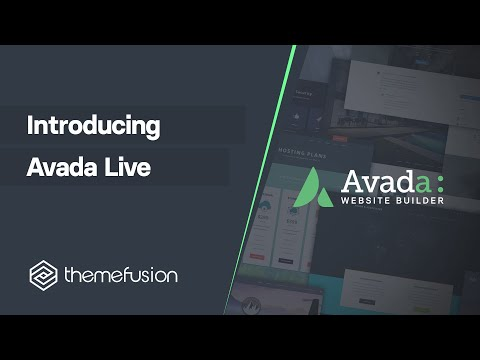 Introducing Avada Live Video