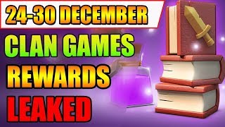 24-30 December Upcoming Clan Games | Next Clan Games Rewards Information | Clash of Clans (COC)