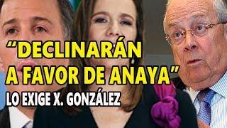 Claudio X. González exige que Meade y Zavala declinen a favor de Ricardo Anaya!
