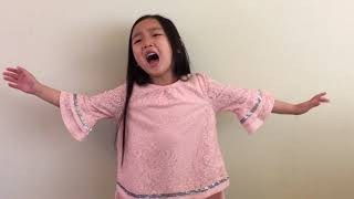 #MaleaEmma (6 years old) singing Never Enough from The Greatest Showman