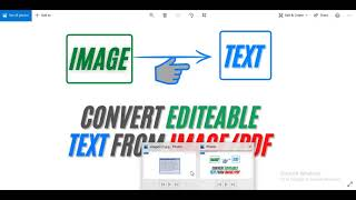 How to Convert Image to Text in Google Docs (JPEG to DOCX) | Convert image to Text in Google Docs