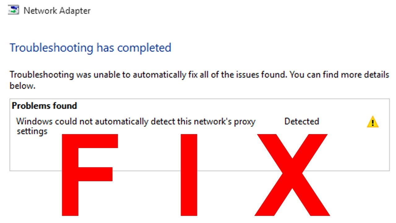 network proxy settings windows 10