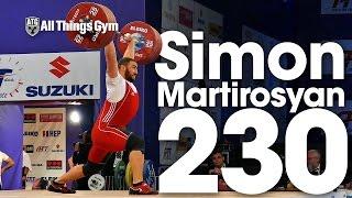 Simon Martirosyan (105kg, Armenia) 230kg Clean & Jerk 2017 European Championships