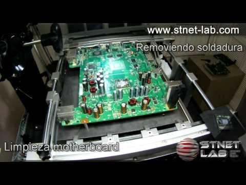 Reballing, solución 0102, 3 luces rojas, Xbox 360.