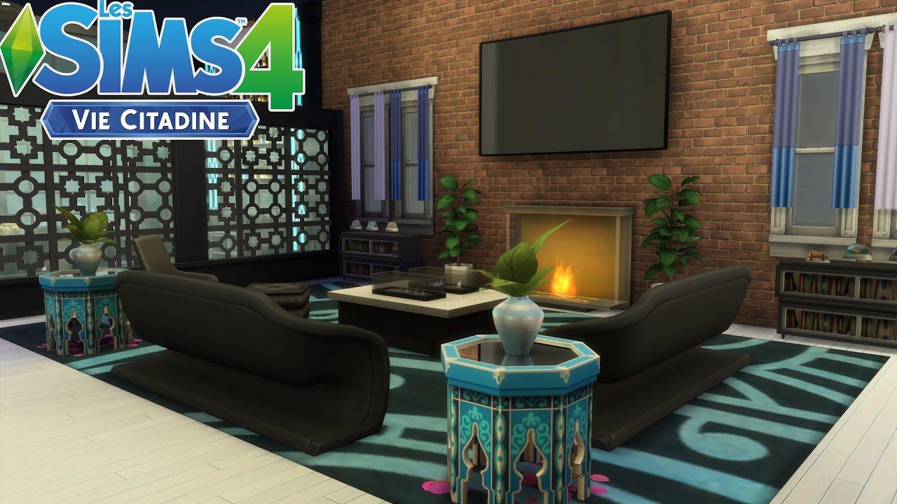 Les Sims 4 Appartement Terrasse Sans Cc Construction Speed Build Youtube
