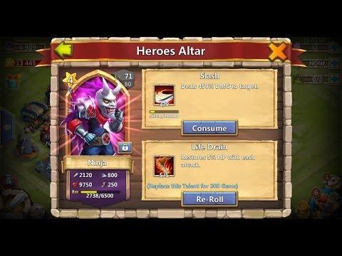 Castle Clash 5/5 Life Drain Ninja Solo