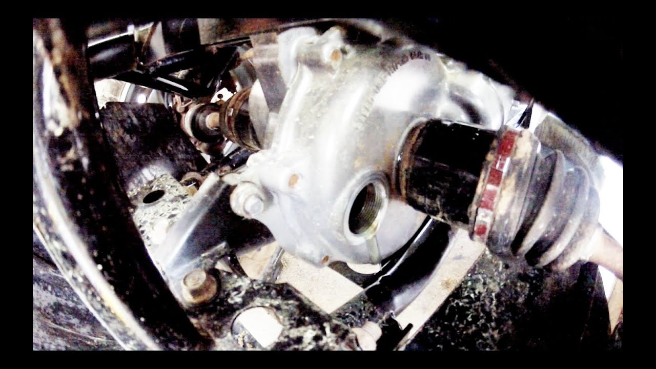Rear Differential Fluid Change >> How To: Honda Rancher Front Differential Oil Change - YouTube