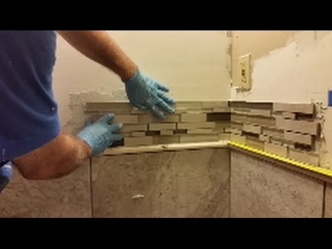 How To Install Mosaic Tile On An Inside Corner Glass