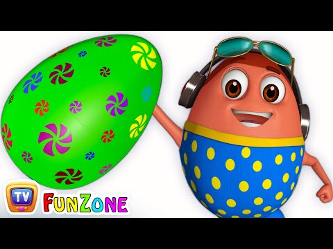 Thumbnail: Learn GREEN Colour with Johny Johny Yes Papa | Surprise Eggs Colours Ball Pit Show | ChuChuTV 3D Fun