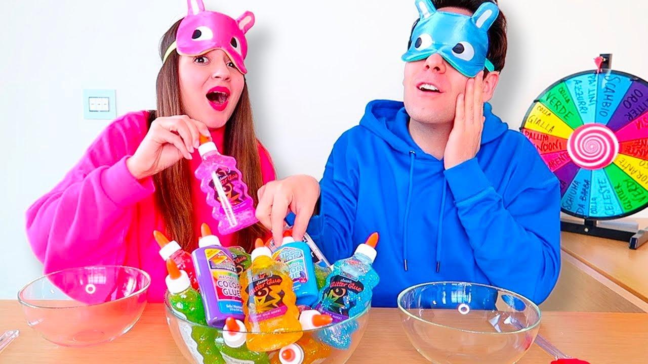 3 Colori Di Colla Slime Challenge Youtube