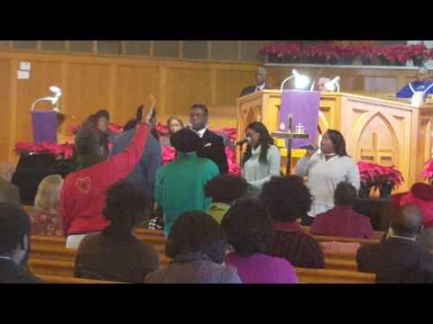 Kean college gospel choir visiting st.paul baptist church montclair nj
