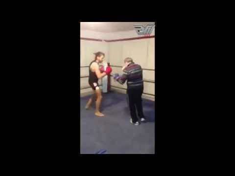 Older Boxer Knocks Out Young Guy In Sparring Session Caught On Video
