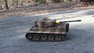 1/16th scale RC Taigen Late production tiger I tank model rebuilt final chapter 3 of 3
