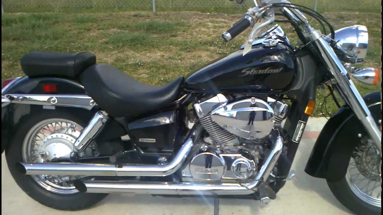 2005 honda shadow 750 aero black youtube. Black Bedroom Furniture Sets. Home Design Ideas