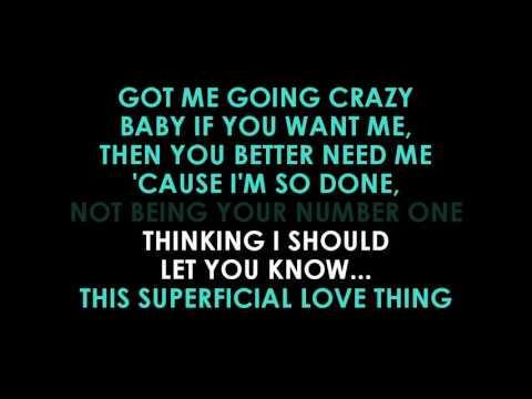 Ruth B Superficial Love Karaoke