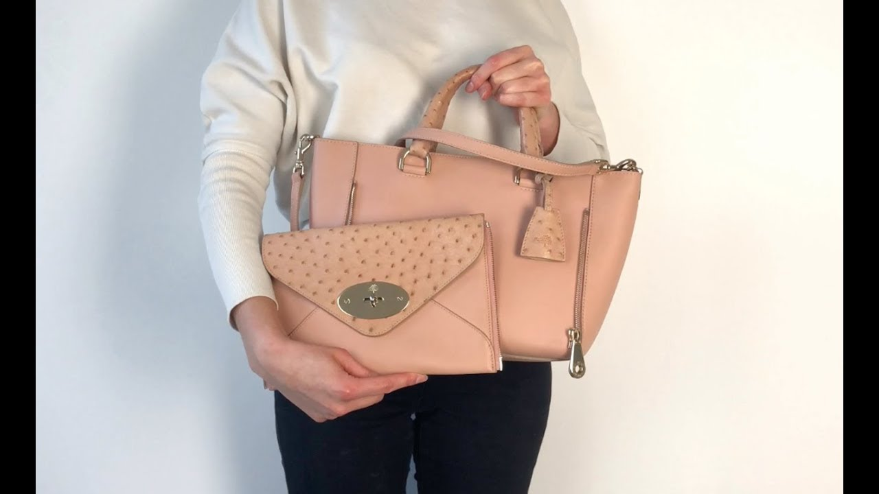 b269e7278 Mulberry Willow Small Bag in Rose Petal Pink with Ostrich Detail Handbag.  Handbagholic