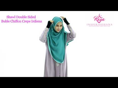 Tutorial Shawl Instant Double Sided Bubble Chiffon Crepe Irdiena